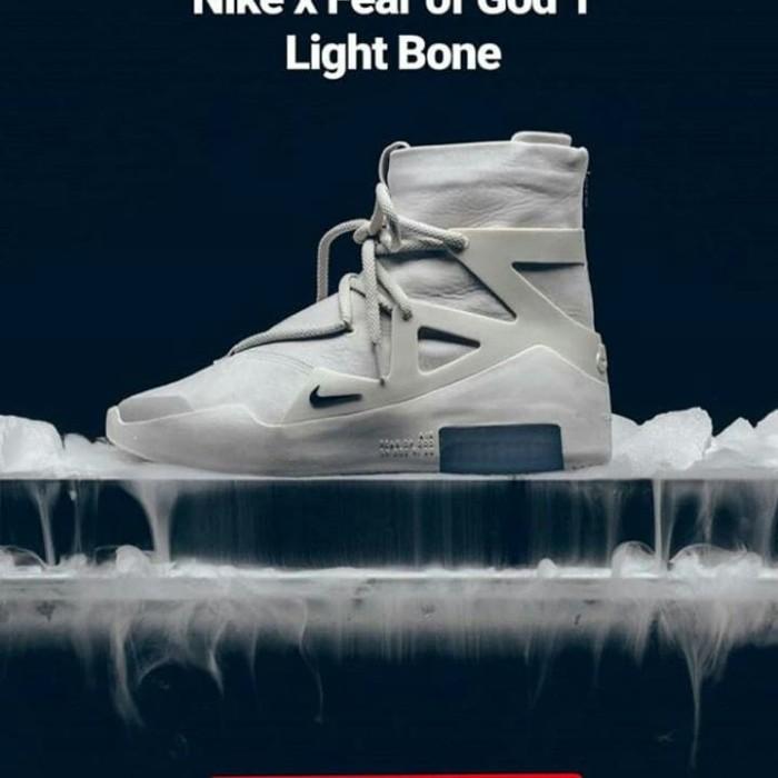 Jual Nike X Fear Of God Fog 1 Light Bone Kota Surabaya Sinar