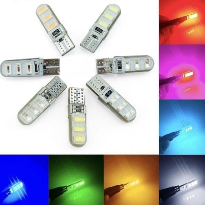 Foto Produk Lampu Senja & Lampu Sen Jelly Crystal Led T10 Flash Strobo kedap-kedip - Merah dari KUFA Varian