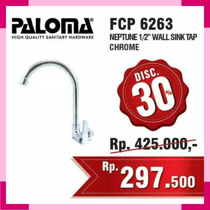 Keran Air Leher Angsa Dinding (Kran Cuci Piring) PALOMA FCP 6263