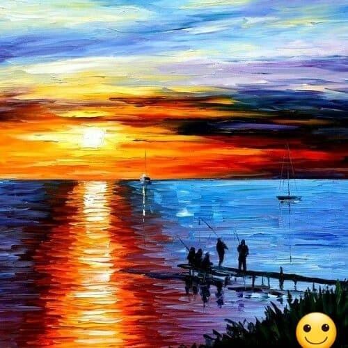 41 Gambar Pemandangan Di Kanvas Terbaik