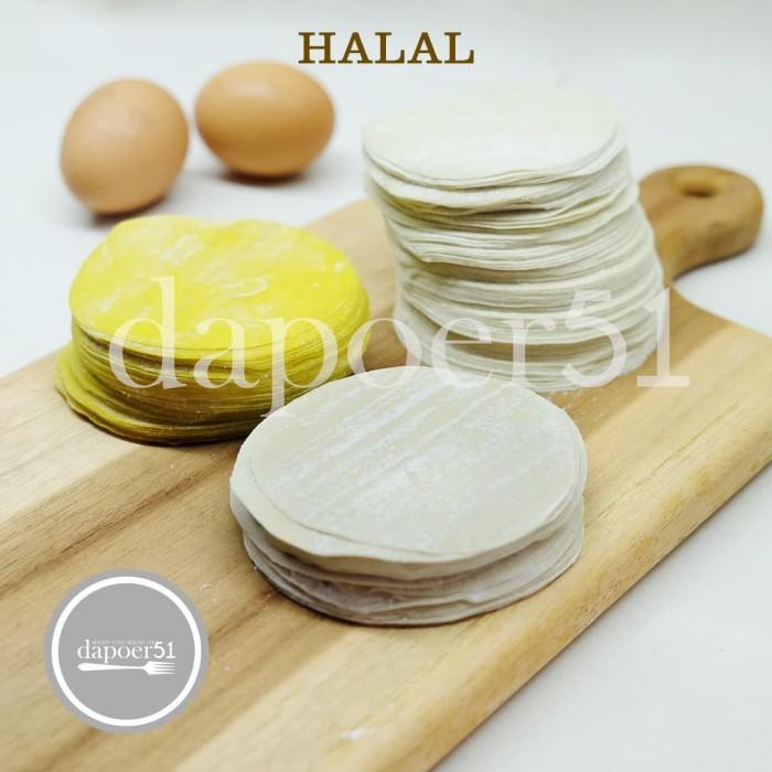 Foto Produk kulit dimsum tipis & lembut diameter 8 cm, isi 50 lembar - Kuning dari Velvet Batik