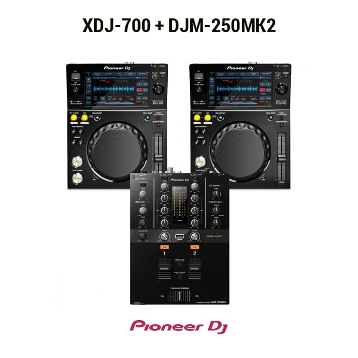 harga Pioneer dj paket (2 xdj-700 + 1 djm-250 mk2 ) Tokopedia.com