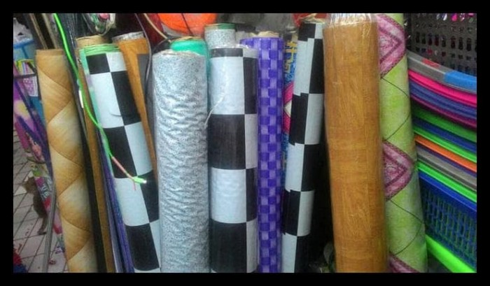Jual karpet meteran taplak meja plastik meteran motif cek