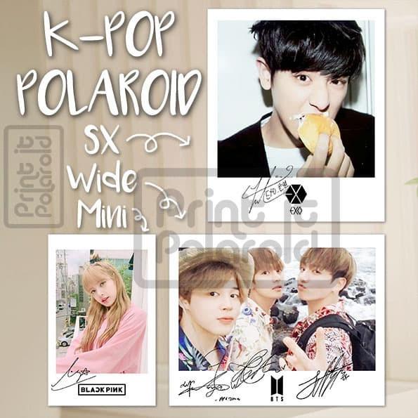Jual Polaroid K Pop Isi 12 Foto Ttd Tanda Tangan Logo Kpop Pc