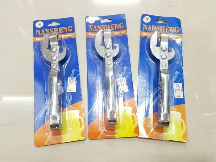 Foto Produk NANSHENG Alat Pembuka Tutup Botol & Kaleng Serba Guna Stainless dari toserba 18