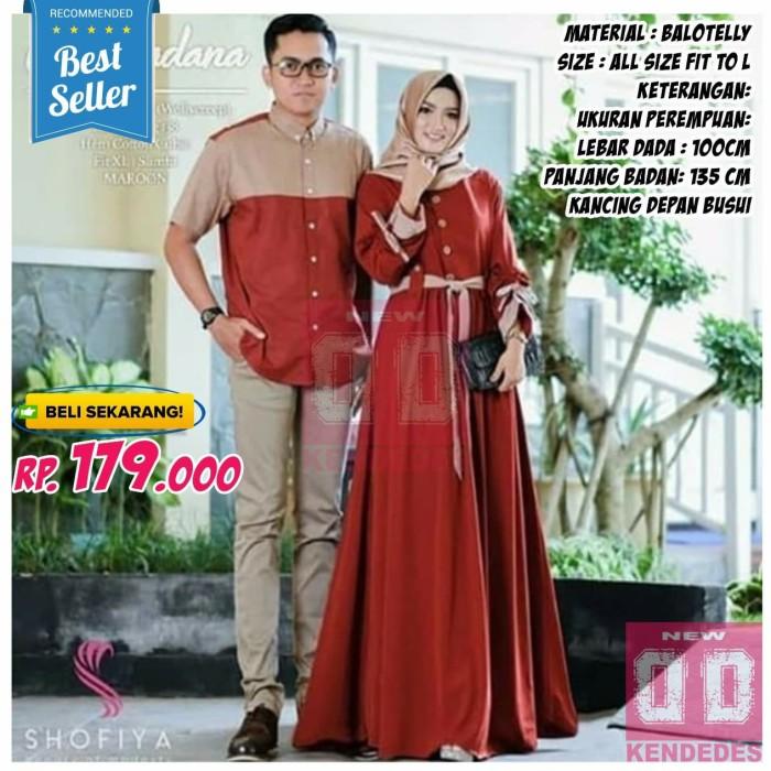 Jual Baju Koko Pria Muslim Muslimah Couple Dress Wanita Pesta Terbaru Murah Merah Kota Bandung New Kendedes Tokopedia