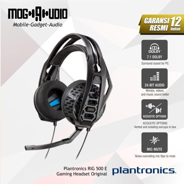 harga Plantronics rig 500 e / rig500 e gaming headset original Tokopedia.com