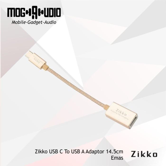 harga Zikko usb c to usb a adaptor 14.5cm - emas Tokopedia.com