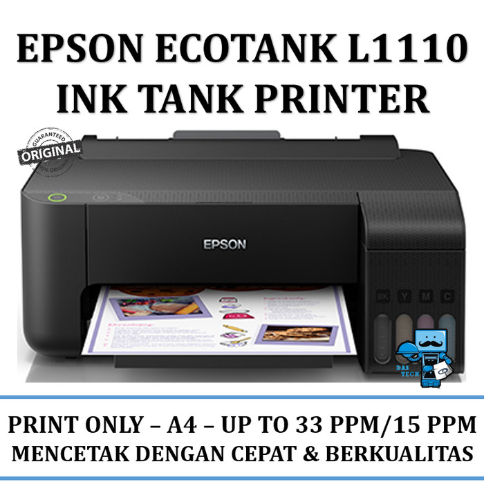 harga Printer epson ecotank l1110 ink tank printer - kami dealer resmi Tokopedia.com
