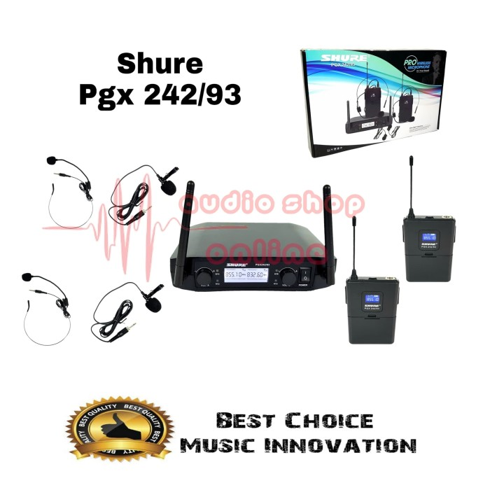 harga Mic jepit wireless shure pgx 242 / 93 clip on headset microphone Tokopedia.com