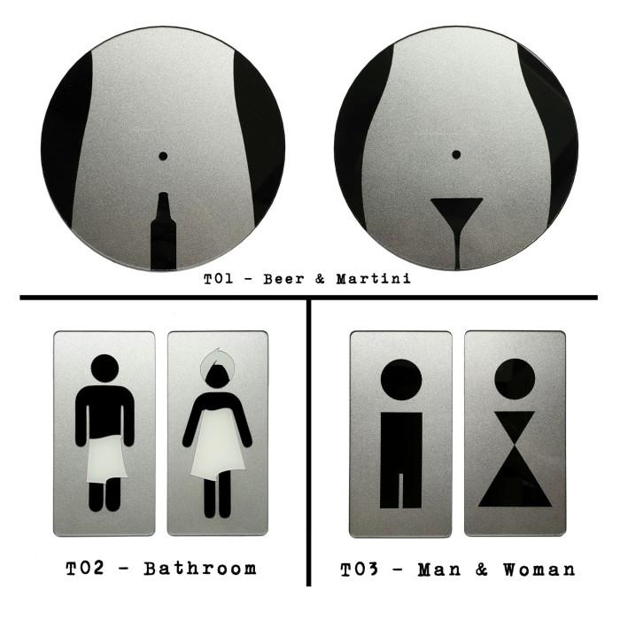 Foto Produk Sign Akrilik Pintu Toilet - Signage Cafe / Restaurant dari Nail_Your_Art