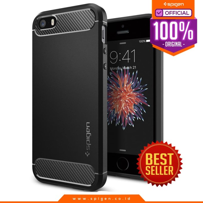 Foto Produk Spigen iPhone SE / 5S / 5 Case Rugged Armor ORIGINAL Case dari Spigen Official