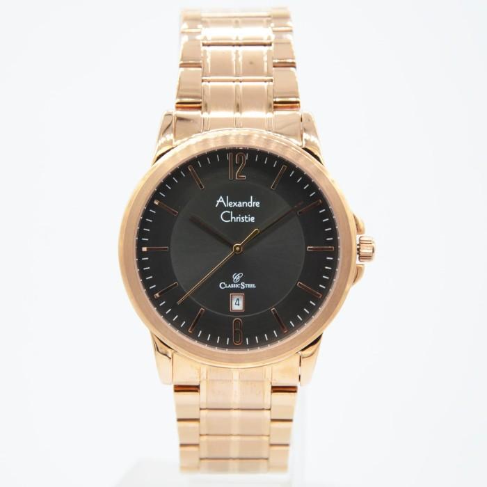 Alexandre christie 8298md - jam tangan pria - rosegold