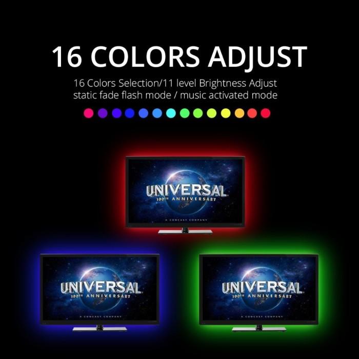 Jual DC 5V RGB LED Strip Light DIY Ambilight HDTV TV Backlight