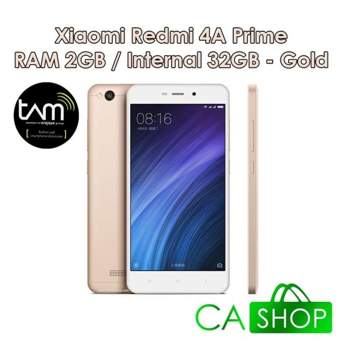 harga Xiaomi redmi 4a prime - 2gb 32gb (2/32) - gold - baru new - resmi tam Tokopedia.com