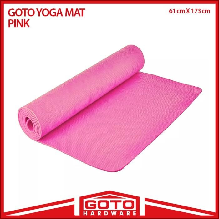 harga Matras alas yoga senam mat 6 mm anti slip outdoor indoor free bag - merah muda Tokopedia.com