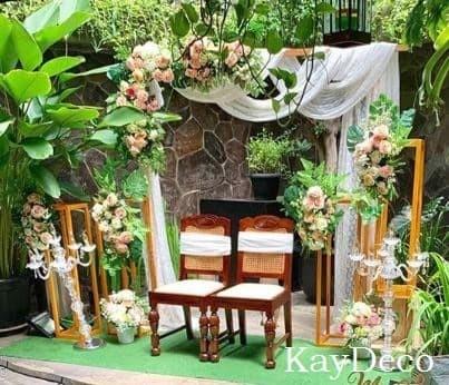 Jual Dekorasi akad nikah, nikahan, wedding, intimate wedding tema rustic -  Kota Depok - Zayani & KayDeco | Tokopedia
