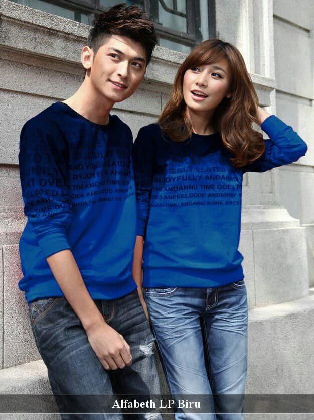 Foto Produk sweatshirt couple | sweater couple | sweater kembar | alfabet lp dari koleksi baju couple