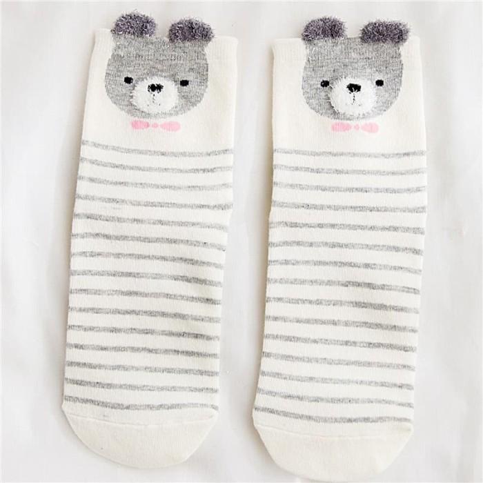 harga Kaos kaki anak import termurah / socks white grey series Tokopedia.com