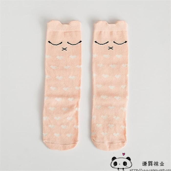 harga Kaos kaki panjang anak karakter lucu import termurah - full love pink sz s Tokopedia.com