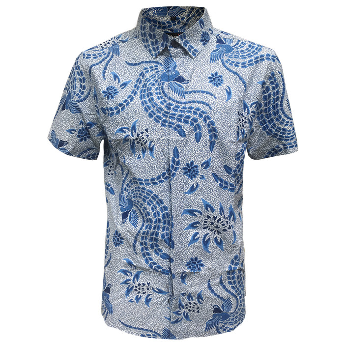 [arthesian] kemeja batik pria - abhivandya batik printing - navy xxl