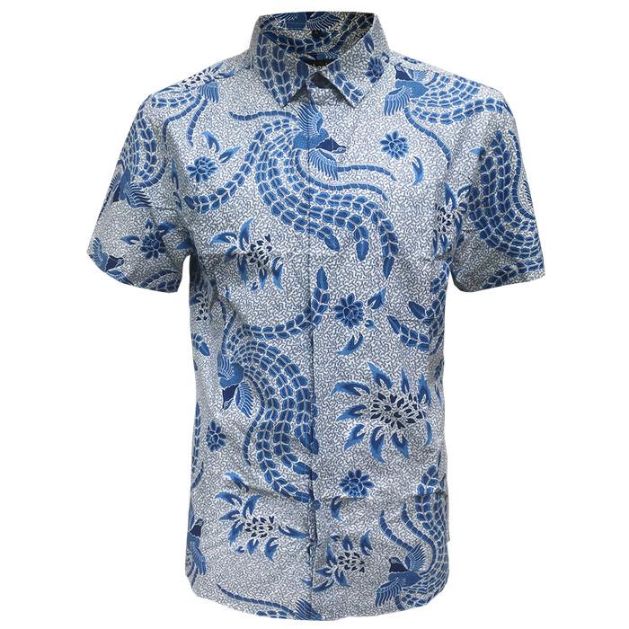 [arthesian] kemeja batik pria - abhivandya batik printing - biru m