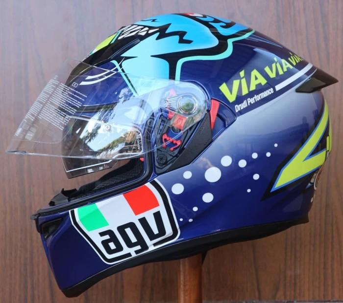 Jual Helm Agv K3 Sv Via Via Via Blue Shark K3sv Rossi Kota Bekasi Doctor Helm Tokopedia