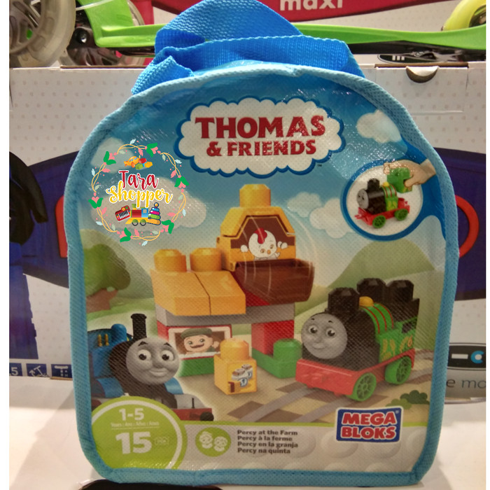 Thomas And Friends Mega  Bloks  Percy At The Farm Building Bag free shipping new