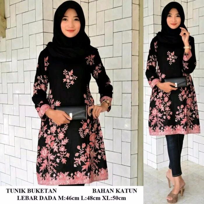 Jual Best Model Baju Batik Wanita Tunik Batik Atasan Batik Kota Surabaya Good Id Shop Tokopedia