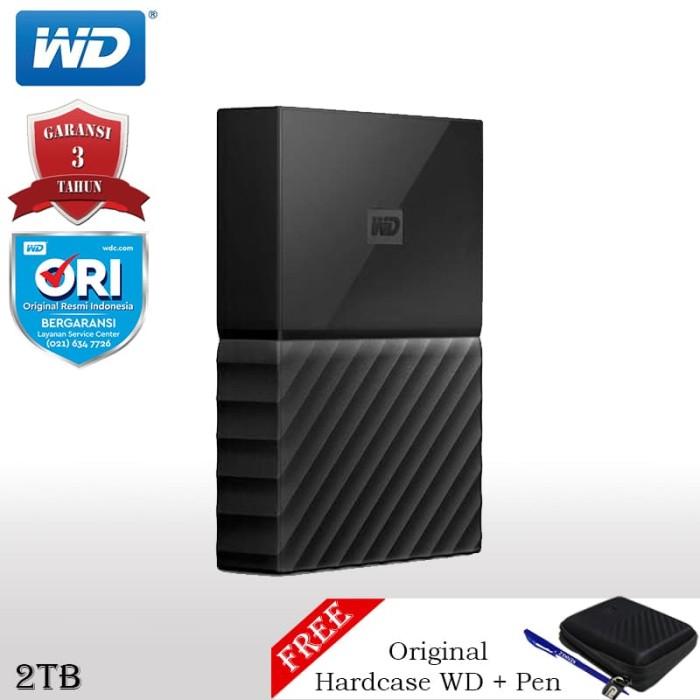 harga Wd my passport new design hardisk eksternal 2tb + pen + hardcase wd fs - kuning Tokopedia.com