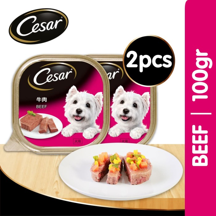 harga [isi 2 pack] cesar beef 100gr makanan anjing super premium Tokopedia.com
