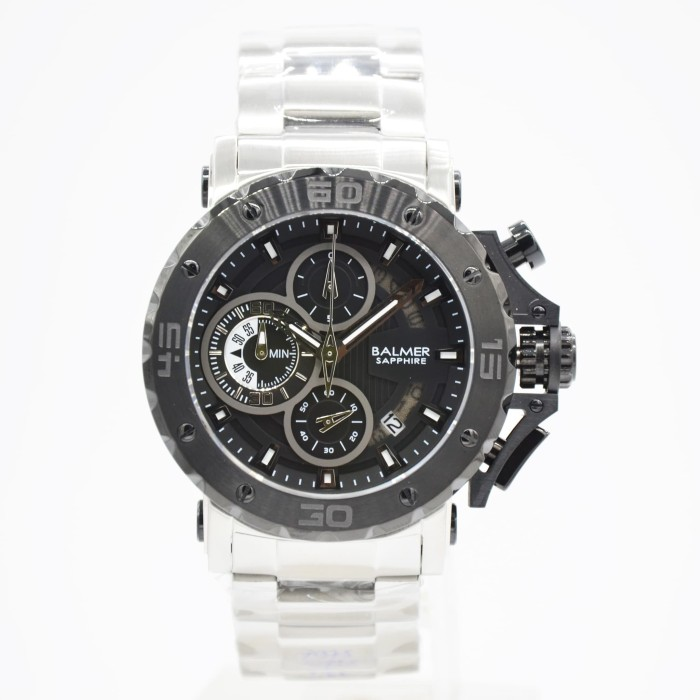 Balmer 7975m kaca sapphire (anti gores) - jam tangan pria - hitam