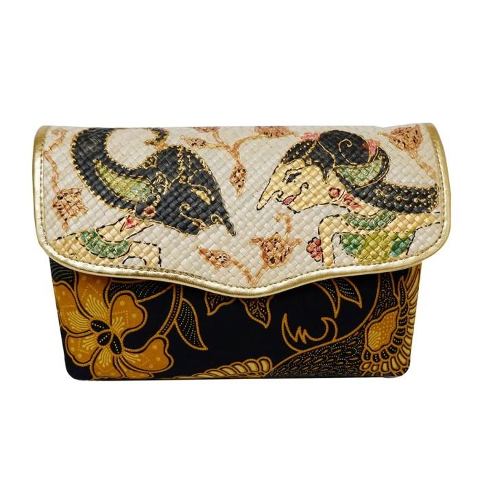 harga Diajeng maya dompet wanita 2 in 1 motif wayang batik sogan - kuning Tokopedia.com