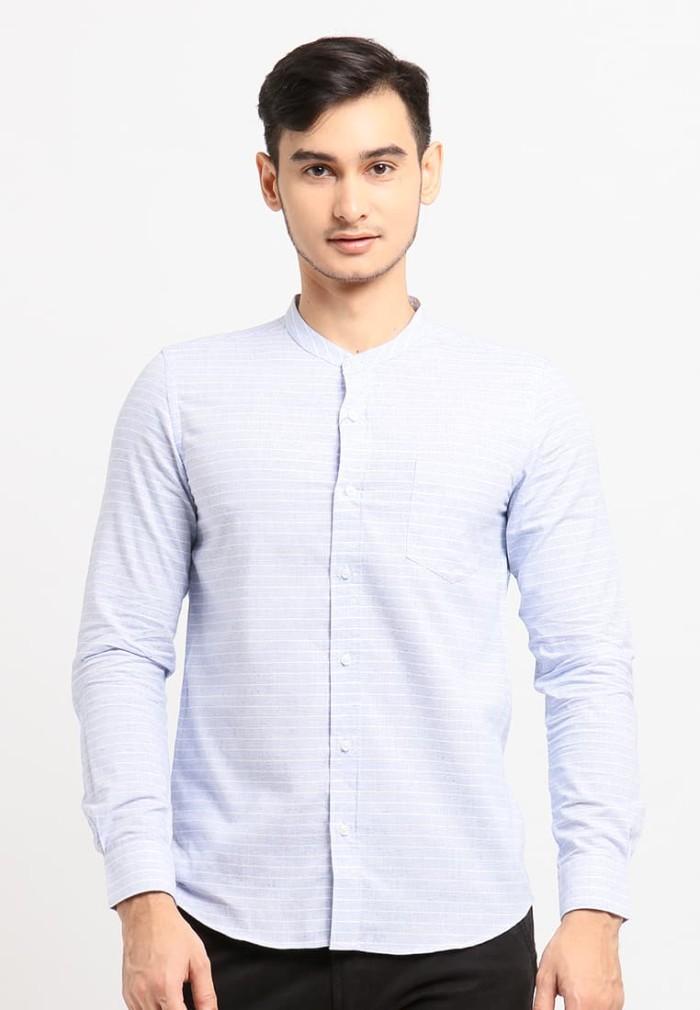 Arnett baju pria kemeja lengan panjang kotak kotak blue colour - biru muda xl