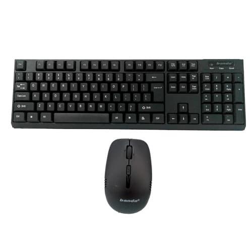Foto Produk Keyboard Wireless Mouse Banda W300 - Hitam dari IT_MURAH