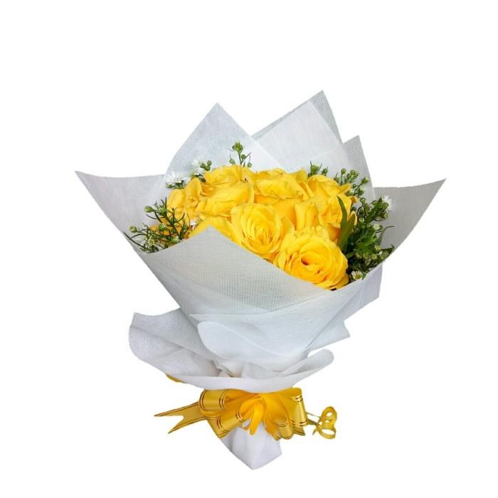 Jual Buket Bunga Mawar Kuning Asli Bouquet Bucket Kado Ulang Tahun Florist Jakarta Barat Sun Flowers Tokopedia