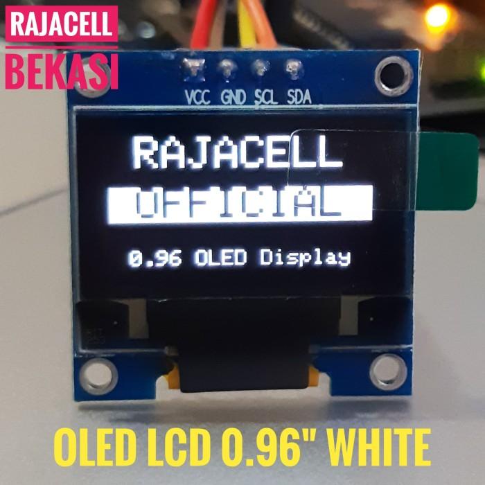 """Foto Produk LCD OLED 0.96"""" WHITE I2C Module for Arduino Display dari RAJACELL BEKASI"""