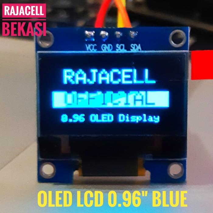 """Foto Produk LCD OLED 0.96"""" BLUE i2C Module for Arduino Display dari RAJACELL BEKASI"""