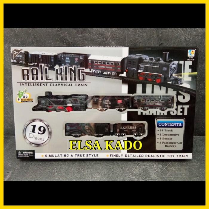 Foto Produk mainan kereta api panjang train rail king track lintasan rel choochoo dari Elsa Kado