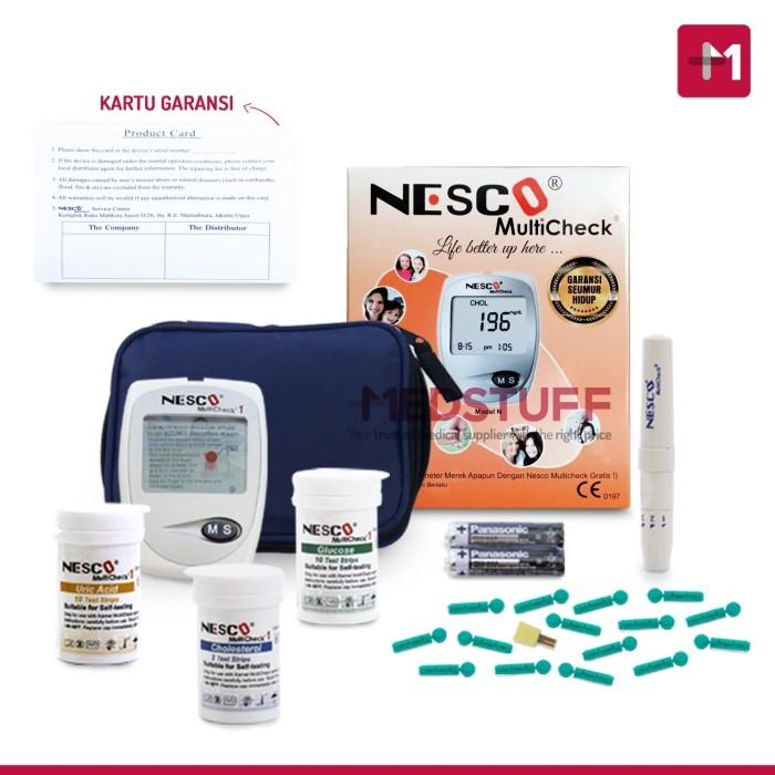 Foto Produk Alat Nesco Multicheck GCU 3 In 1 Cek Gula Darah, Kolesterol, Asam Urat dari Medstuff