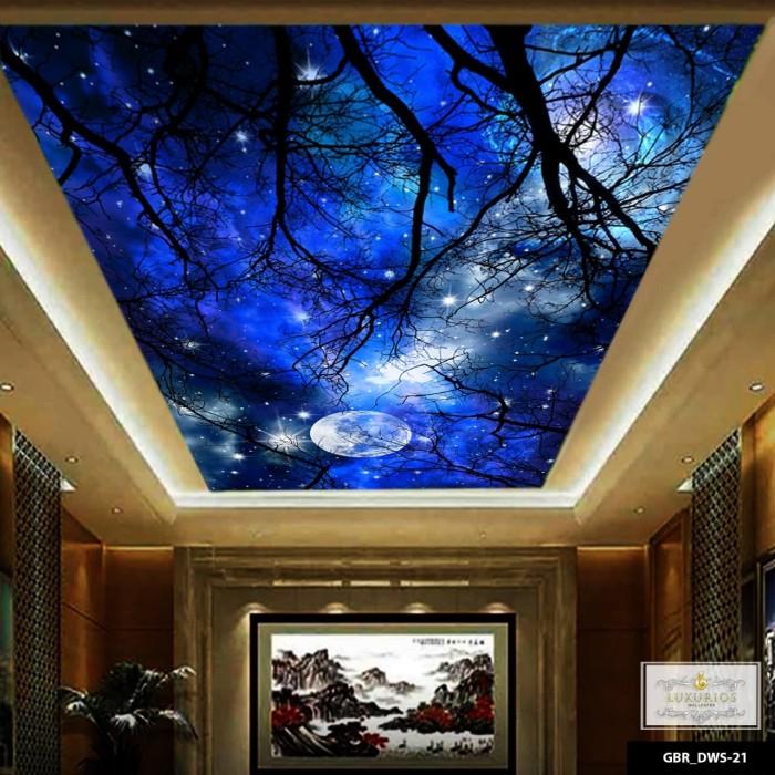 Jual Wallpaper 3d Wallpaper Custom Wallpaper Plafon Langit Malam