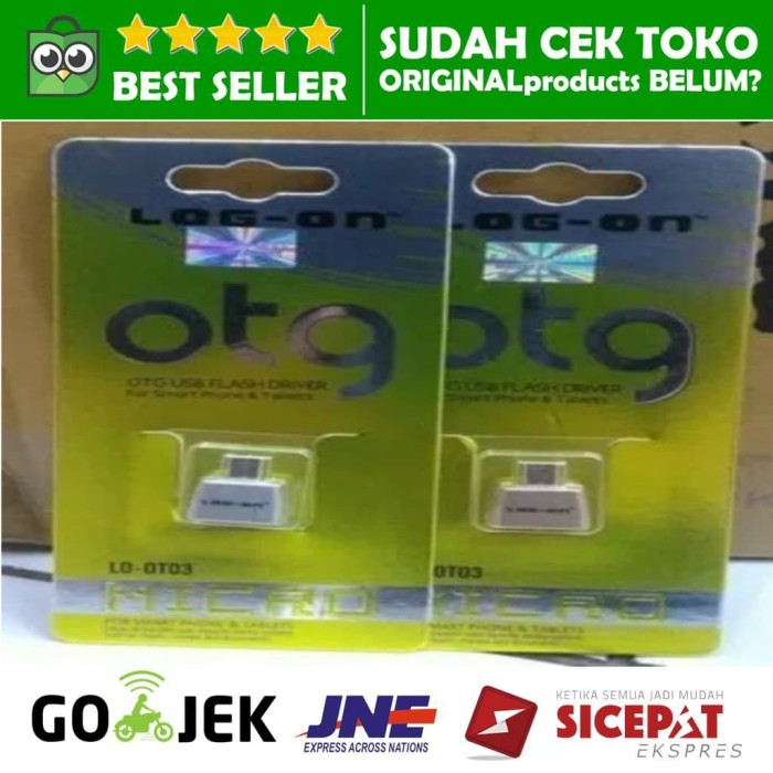 harga Micro usb otg female log on flashdisk hp lo-ot03 adapter mikro android Tokopedia.com