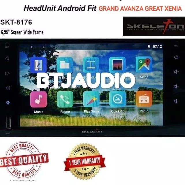 Jual HEAD UNIT TAPE DOUBLE DIN SKELETON ANDROID GRAND AVANZA GREAT XENIA -  Kota Bekasi - BTJ AUDIO | Tokopedia