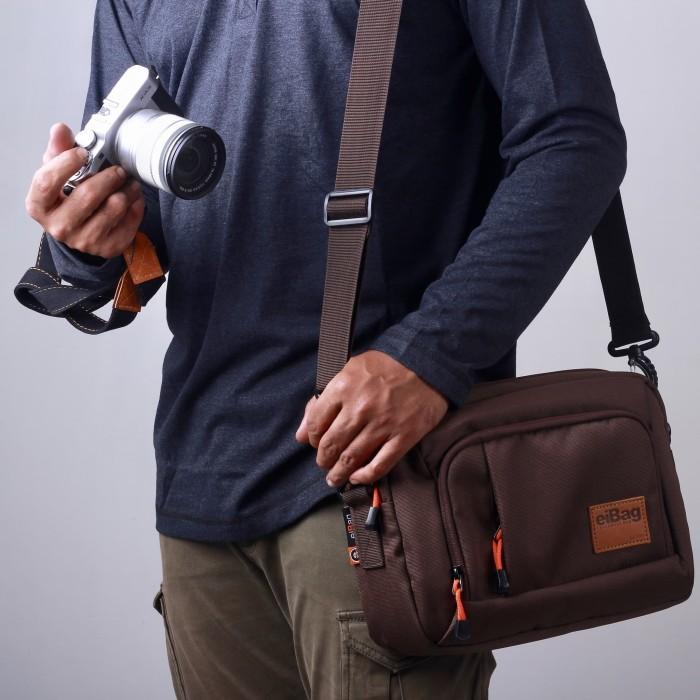 Foto Produk Tas kamera SLR mirrorless eibag 1758 coklat - camera bag dari eibag-indonesia