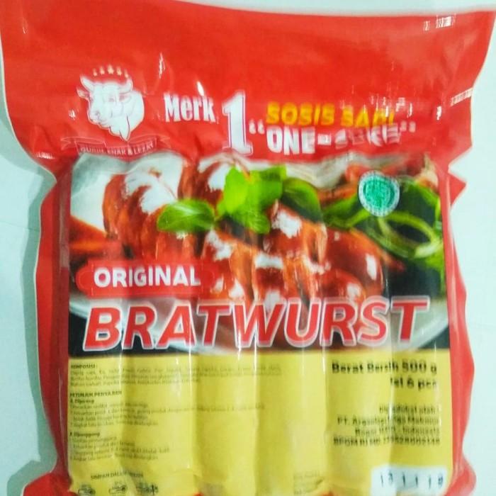harga Sosis sapi one suke bratwurst jumbo original isi 6pcs Tokopedia.com