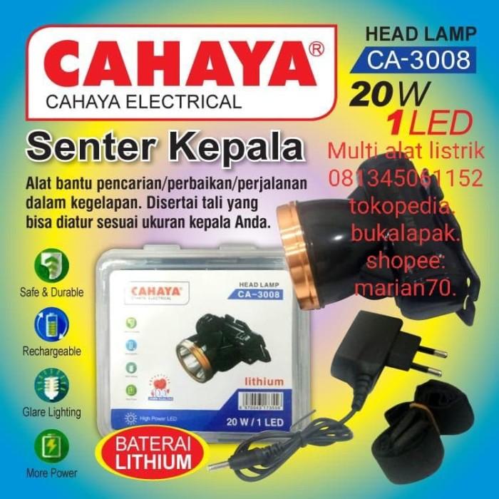 Jual Senter Kepala 1 Led 20 Watt Cahaya Ca 3008 Senter Kepala Super Terang Kab Bogor Multi Alat Listrik Tokopedia