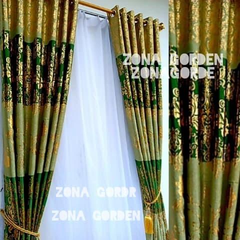 Jual Gorden Jendela Horden Rumah Minimalis Blezer Serat Hijau Kuning Kab Bandung Zona Gorden Tokopedia