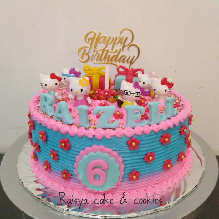 Jual Kue Ulang Tahun Hello Kitty Jakarta Utara Raisya Cake Cookies Tokopedia