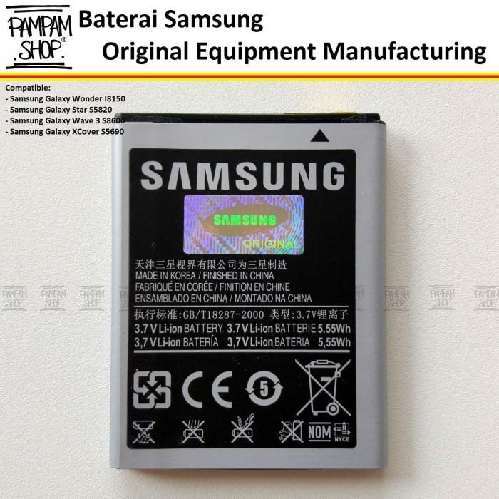 harga Batre baterai battery batrai handphone samsung galaxy xcover s5690 ori Tokopedia.com