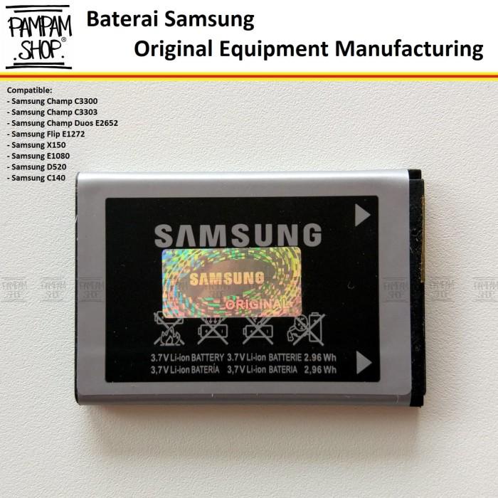harga Batre / baterai / battery / batrai handphone samsung champ c3300 ori Tokopedia.com